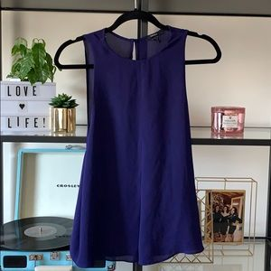 Forever 21 Royal Purple Scoop Sleeve Blouse